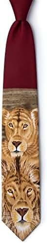 Lions Burgundy Microfiber Tie