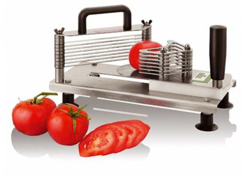 Paderno World Cuisine Tomato Slicer, Stainless Steel, 5.5 mm slices - Paderno Stainless Steel Tomato