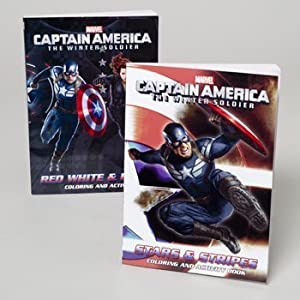 Amazoncom Captain America 96 Page Coloring Book Set of 2 From