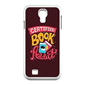 Samsung Galaxy S4 9500 Cell Phone Case White quotes book addict LV7136126