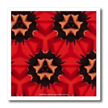 signs Kaleidoscope - Kaleidoscope Tulip Red 2-8x8 Iron on Heat Transfer for White Material (ht_5795_1) ()