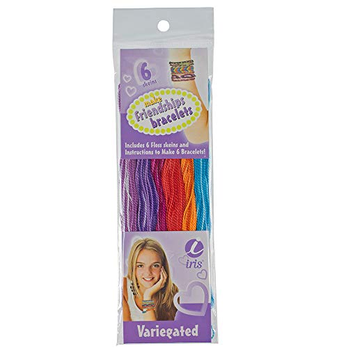 (West Coast Paracord Floss Friendship Bracelets Crafting Kits - Kits Include Assorted Color 10 Yard Skeins and Easy-to-Follow How-to Guide (Variegated))