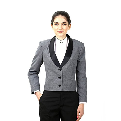 (Women's Heater Grey Eton Jacket With Black Lapel XX Large)