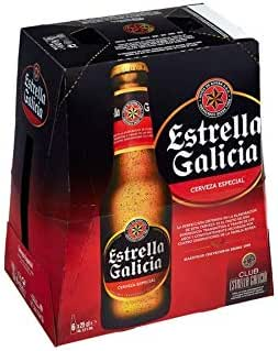 Estrella Galicia - Cerveza Especial - 6 X 250 ml: Amazon.es: Alimentación y bebidas