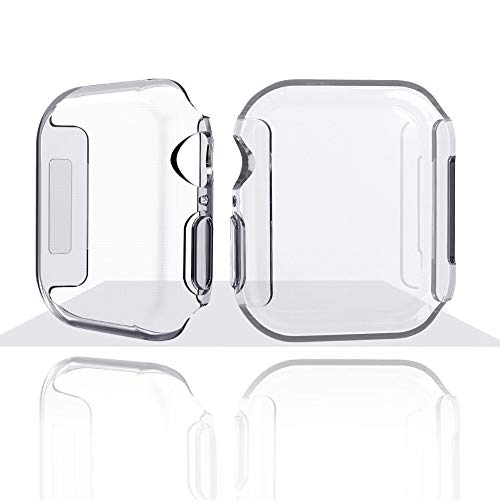 Soft TPU Watch Case Compatible Apple Watch Series 4 40\44mm, SHUDAGE Ultra-Slim Clear Wristbands Bracelet Case Cover for iWatch Series 4 40\44mm (44mm) Active Iv Soft Shell