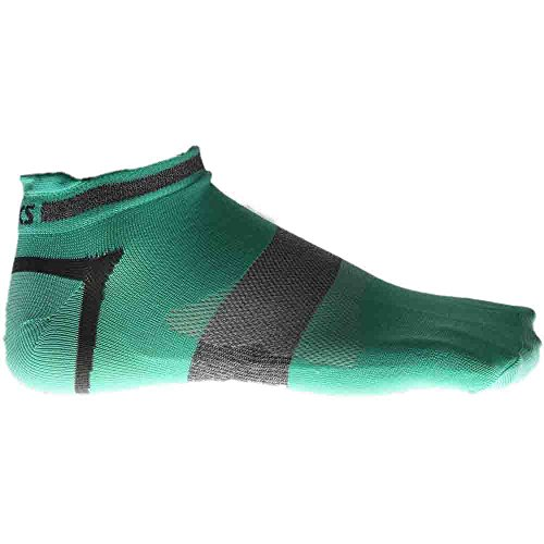 Asics Ankle Socks - ASICS Womens Quick Lyte Single Tab (3 Pairs), Aqua Mint/Grey Heather, Medium