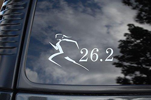(26.2 Marathon Girl Womens Vinyl Sticker Decal Jogging Running shoes Run Choose Size & Color (V29) (6.25