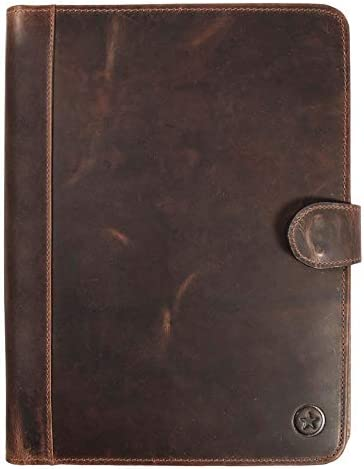 Leather Portfolio Organizer Flip Closure Aaron
