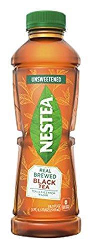 NESTEA Real Brewed Unsweetened Black Iced Tea, 18.5-Ounce...