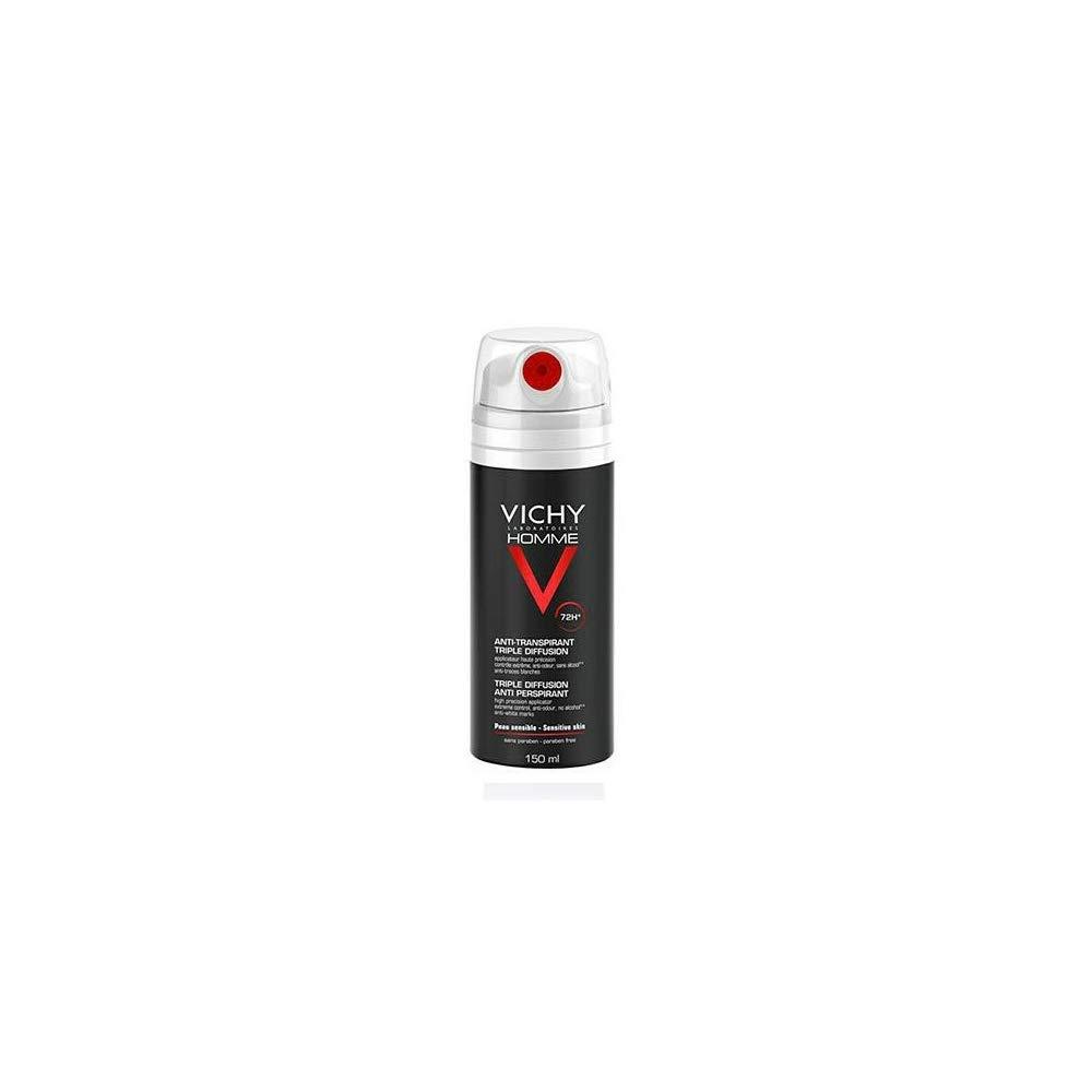 VICHY HOMME Desodorante Spray Antitranspirante Triple Difusión 72 horas 150 ml