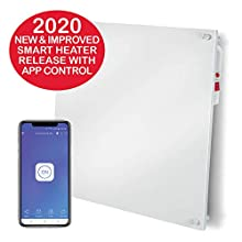 EconoHome Wall Mount Smart Space Heater Panel - Pairs with eWeLink App - 400W Convection Heater - For 120 Sq Ft Room - 120V - Save Up to 50% of Electric Heating Cost -with Overheat Protection