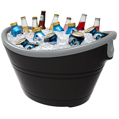 Igloo Insulated Party Bucket, Black/Silver, 20 Quart