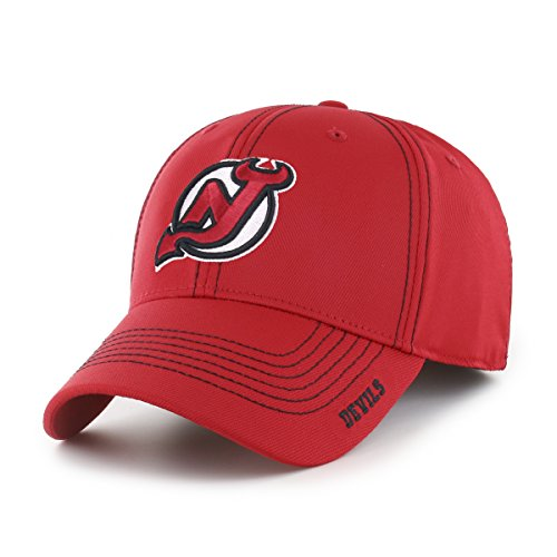 NHL New Jersey Devils Start Line OTS Center Stretch Fit Hat, Red, (Nba High School Jersey)