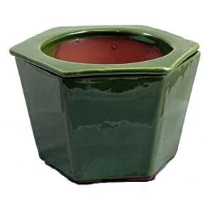 """Riego automático Cerámica vidriada Pot–verde–63/8""""x 51/2"""""""
