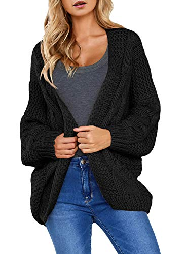 Astylish Women Open Front Long Sleeve Chunky Knit Cardigan Sweaters Loose Outwear Coat