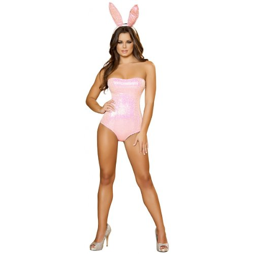 Bunny Babe Adult Costume Pink - Large
