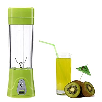 Fruit Mixing Machine?USB Juicer Cup , Portable Personal Size Eletronic Rechargeable Mixer, Water Bottle 380ml with USB Charger Cable Portable Juice Blender and Mixer