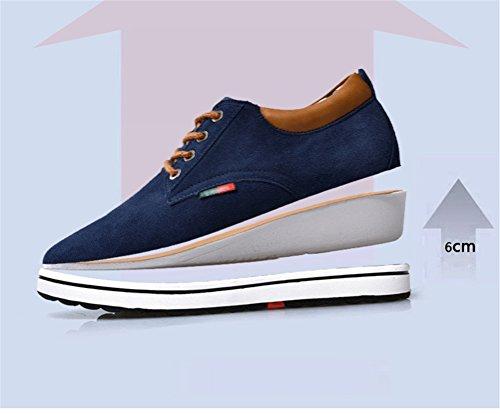de de Zapatos Creciente Altura Oscuro Estilo Hombre de de Gamuza Marron para Zapato Casual ailishabroy Invierno Cálido Elevador xgqF5ww