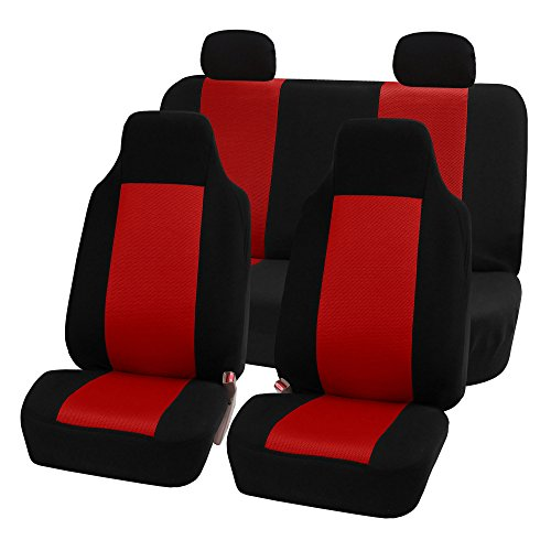 red and black car seat covers - 4