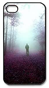 iPhone 4S Case and Cover -Mystery Walks PC case Cover for iPhone 4 and iPhone 4s ¡§CBlack