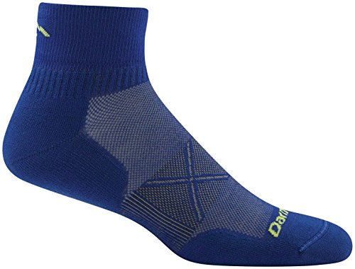 Darn Tough Vertex Quarter Crew Ultralight Cushion Socks - Men's Marine Large