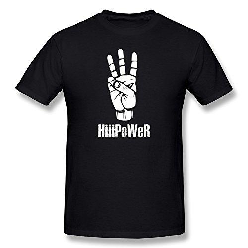 AnneLano Men's HiiiPoWeR Kendrick Lamar Post T Shirt X-Small Black
