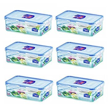 - Rect. Short Food Container w/ Divider, 1.0L