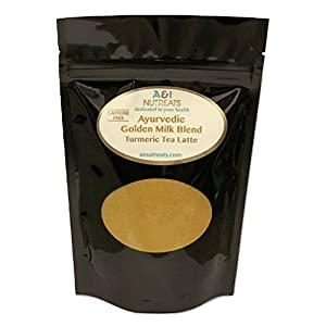 Ayurvedic Organic Golden Milk blend; No added sugar or sweetener; 5oz (120 Servings); More than 50% Turmeric with Ceylon (true) Cinnamon; Anti-Inflammatory - Best for organic vegan latte recipe 34