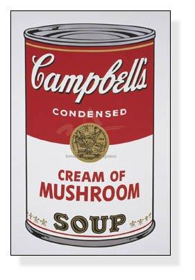 ポスター アンディ ウォーホル Campbell s Soup I Cream of Mushroom 1968 B002TELXVK