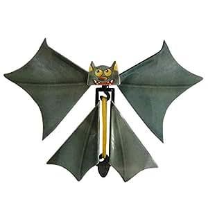 Magic Flying Bat, 3PC Wind up Bat Flutter Card Prank Flying Paper Bats for Funny Halloween Card Gift Toys