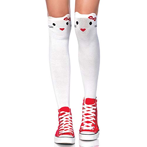 Leg Avenue Womens Kitty Knee Socks