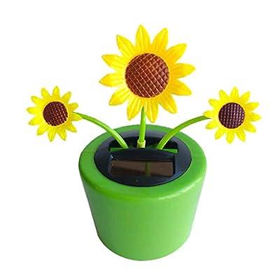 COMFORT INNOVATION Solar Powered Dancing Flowerpot Home Car Ornament Kids Toy Sunflower: Garden & Outdoor