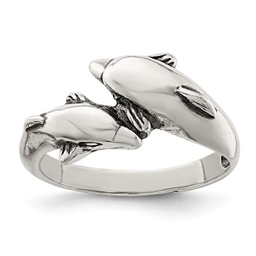 ICE CARATS 925 Sterling Silver Dolphin Band Ring Size 8.00 Animal Fine Jewelry Ideal Gifts For Women Gift Set From Heart by ICE CARATS (Image #3)