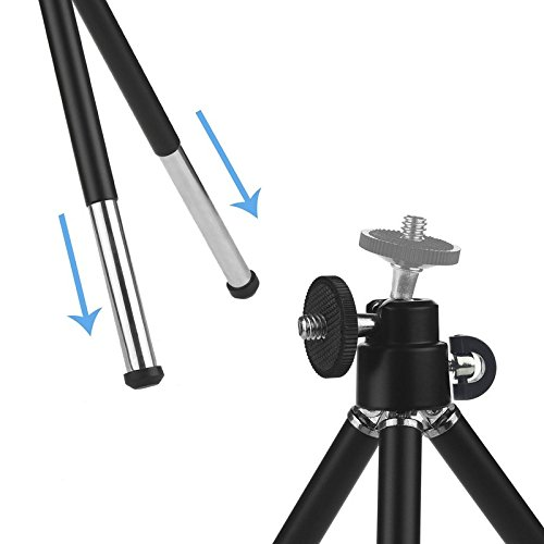 ONX3 (White + Tripod Holder) Universal Clip-on 8x Zoom Optical Telescope Manual Focus Phone Camera Lens and 360 Rotatable Mini Tripod Stand Holder for LG K8 (2017) by ONX3® (Image #4)