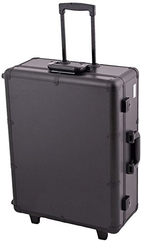 Craft Accents C6010 Professional Rolling Studio Makeup Case, All Black, 672 Ounce by Craft Accents