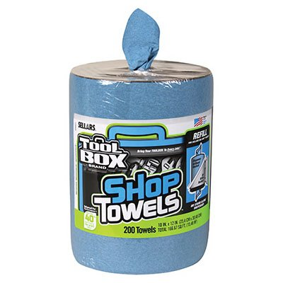 SELLARS WIPERS & SORBENTS 55207 Blue Toolbox Z400 Big Grip Refill Blue Shop Towels, 2493114, 10