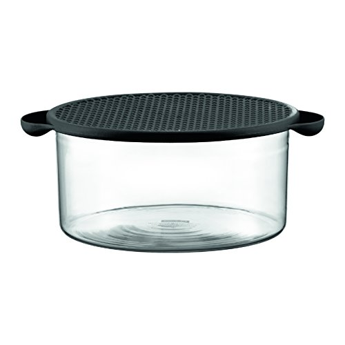 Bodum 10127-01 Hot Pot Bowl with Lid, 85 oz, Black Bodum Glass Bowls