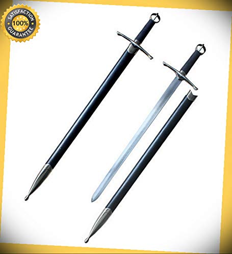 Irish Ring Hilt Celtic Medieval Crusader Knight's Sword With Scabbard perfect for cosplay outdoor camping