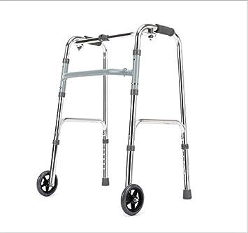 WTTFF* Caminante Plegable de Edad Avanzada, muletas de Andador ...