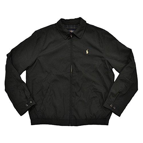 Polo Ralph Lauren Mens Bi-Swing Windbreaker Jacket (L, Rl Black)