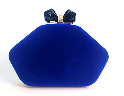 NVBAO de Cadena de Fiesta de Multicolor Bolso de Red Wine de Embrague deep blue Terciopelo Vestido Mujer Boda de Noche Hombro Bolsos zcWzTOqr