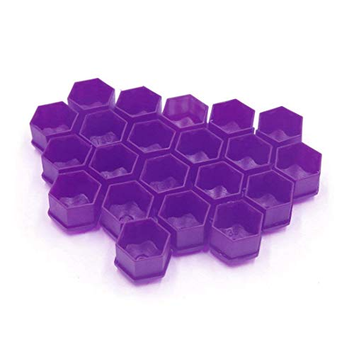 TOOGOO 20 pcs Purple Plastic Wheel Lug Nut Bolt Cover Cap with Removal Tool for Car,17mm by TOOGOO (Image #3)