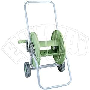 Bobina con carrito para 60metros de manquera, con ruedas, para manguera riego de jardín