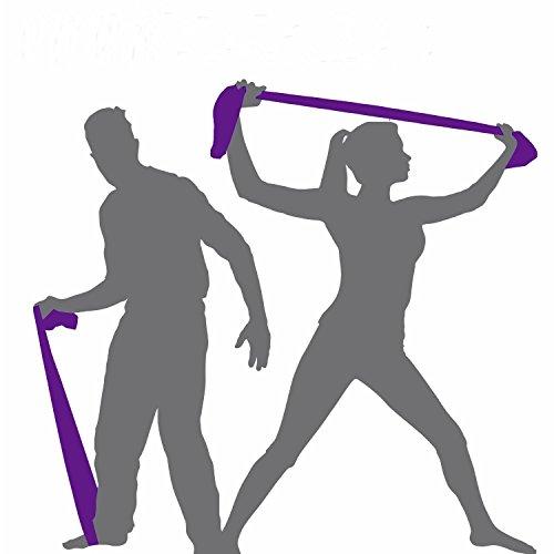 denshine 1m en caoutchouc Yoga Pilates stretch Résistance bande exercice Fitness Body Building Formation Sangle Violet. Vous recommandons par de séchage.