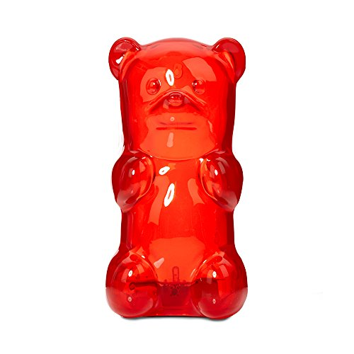 Gummygoods Squeezable Gummy Bear Night Light, Portable with 60 Minute Sleep Timer, Red