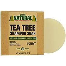 Sam's Natural Tea Tree Shampoo Bar - Shampoo Soap - Natural - Vegan and Cruelty Free - America's Favorite