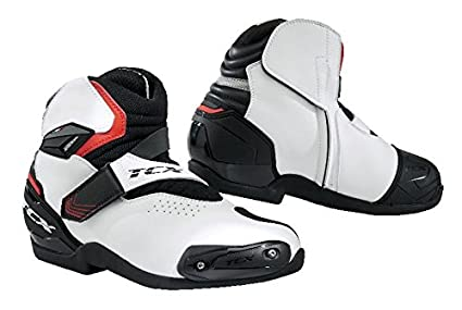 ad801ca59f22c Amazon.com: TCX Roadster 2 AIR Motorcycle Boots Black/White/Red EU43 ...