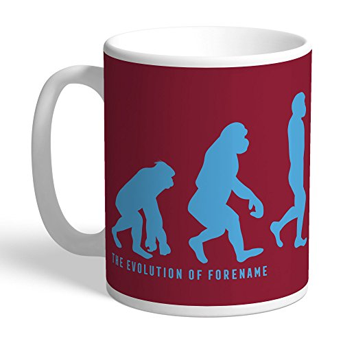 (Official Personalized West Ham United FC Evolution Mug - Free Personalisation)