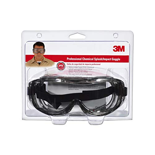 3M 91264-80025  Chemical Splash/Impact Goggle, 1-Pack (Renewed)