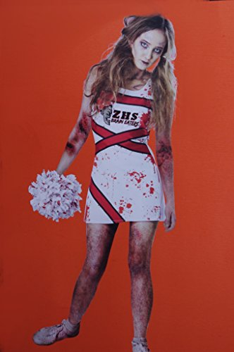 Cheerleader Costumes Teen (Teen Girls Zombie Cheerleader Costume Dress Size 11-13 XL)